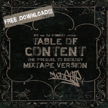 IDE and DJ Connect - Table Of Content Mixtape