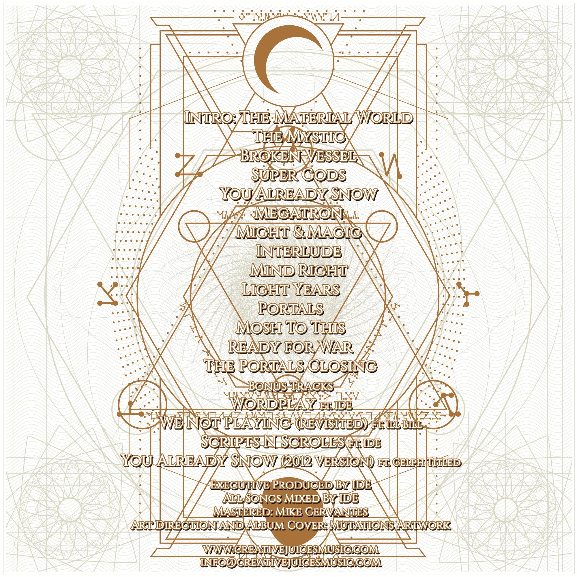 U.G. - Portals Instrumentals back cover