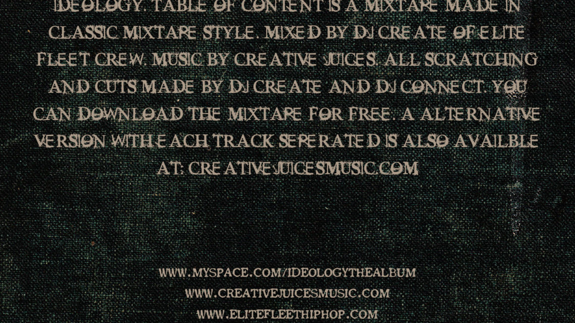 IDE Table Of Content Mixtape Back