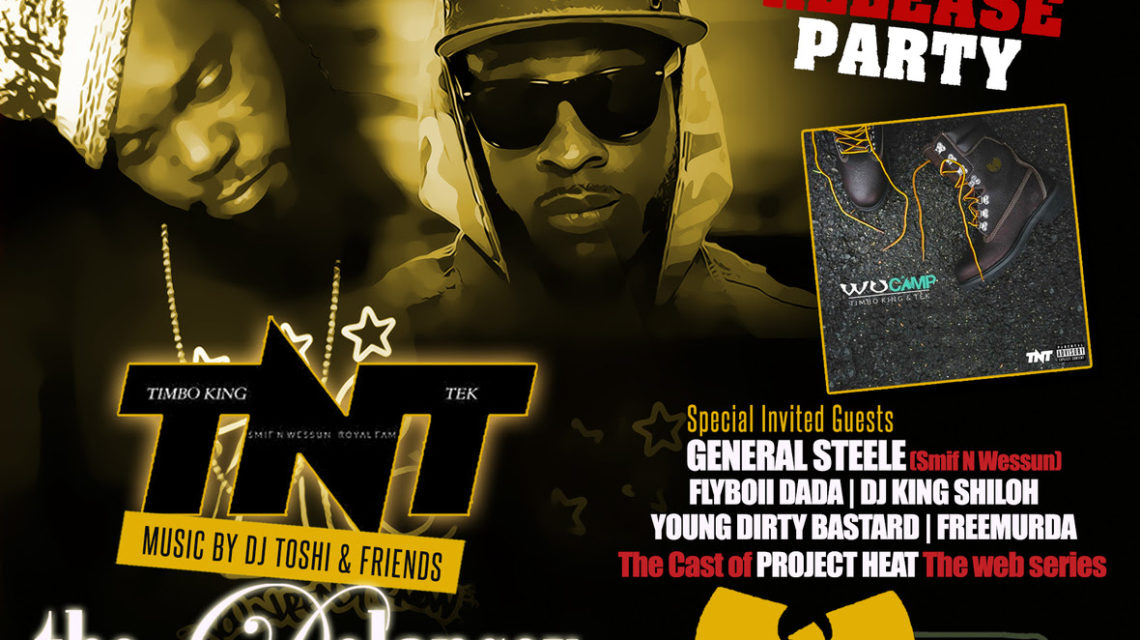 Smif N Wessun & Timbo King Official Release Party Flyer