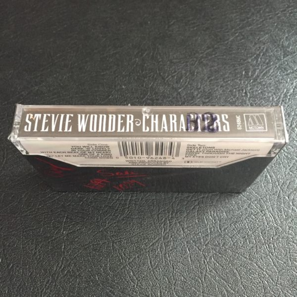 "Stevie Wonder ""Characters"" Cassette SEALED"