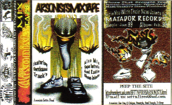Arsonists Mixtape Cassette Artwork