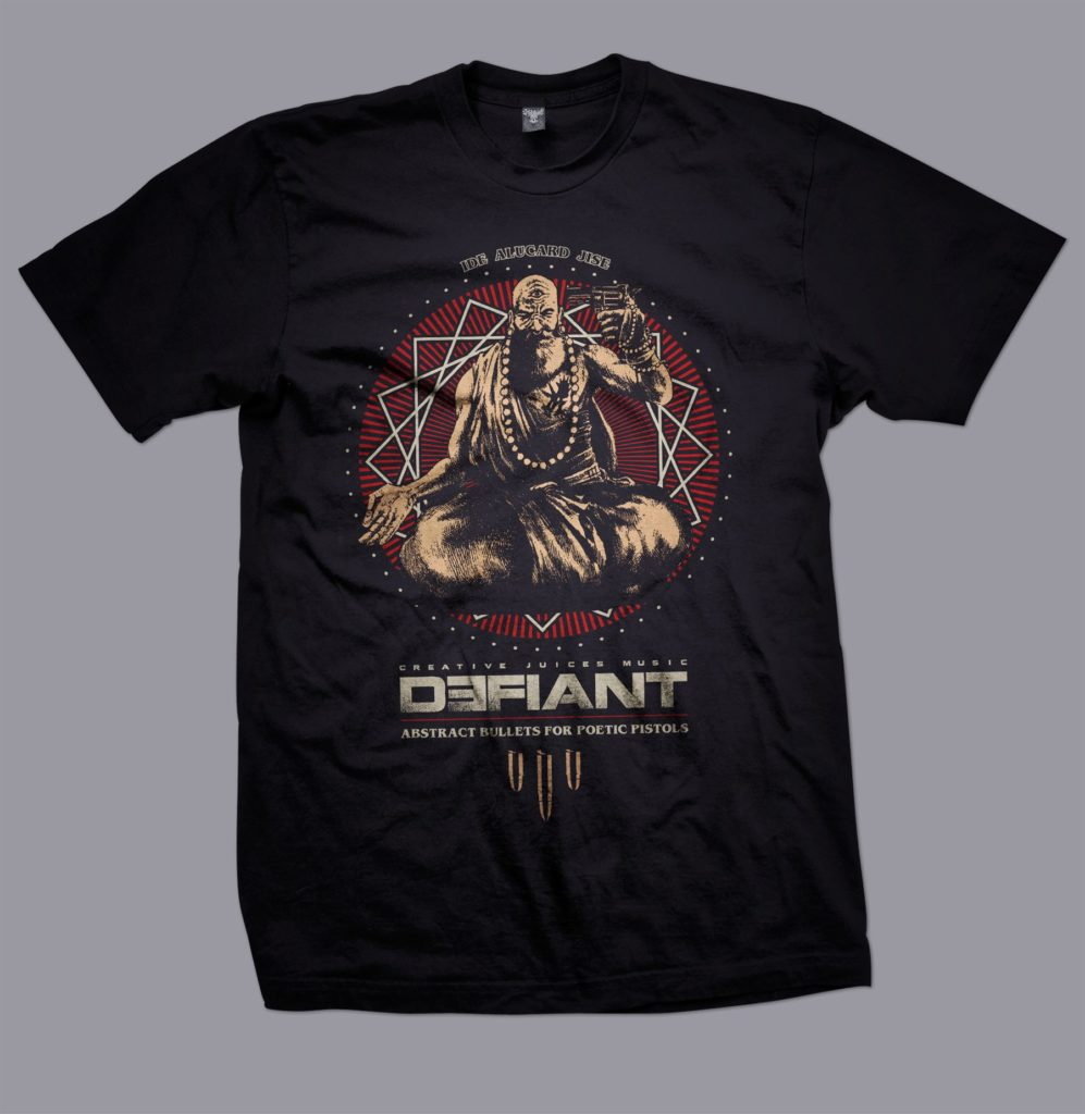 Defiant 3 three eyed monk T Shirt