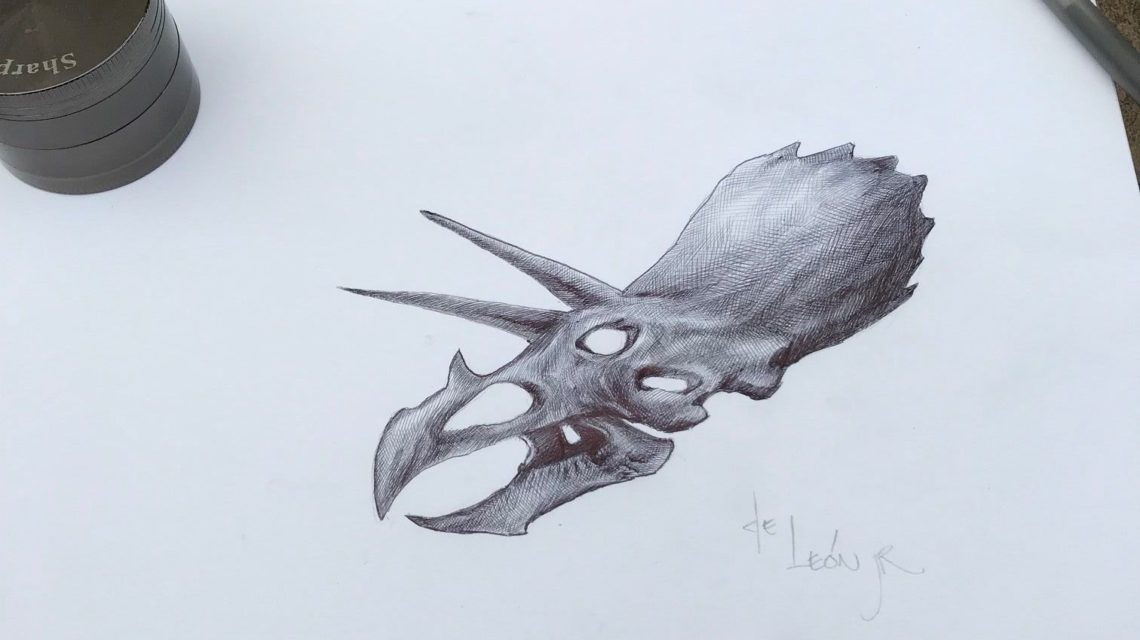 Defiant 3 Alucard Triceratops Drawing