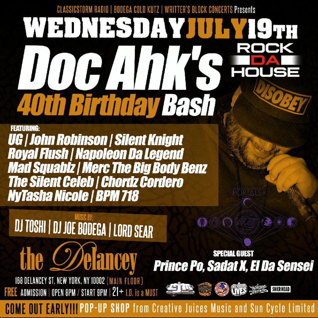 Doc Ahk 40th B Day Party