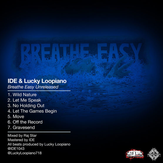 Breathe Easy Unreleased EP Back cover