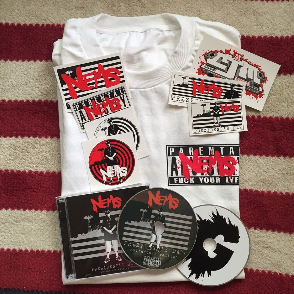 Nems Prezidents Day T Shirts and Double CD now shipping.