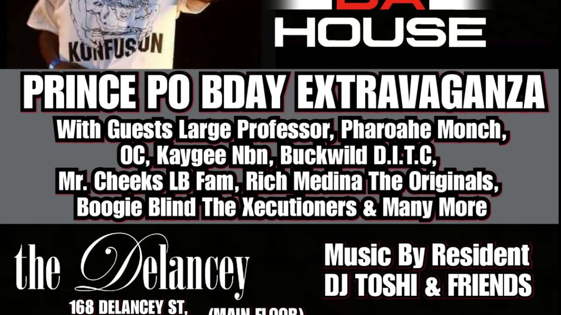 Rock Da House Prince Po Birthday Flyer